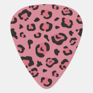 Illustration of Leopard Pink Animal Plectrum