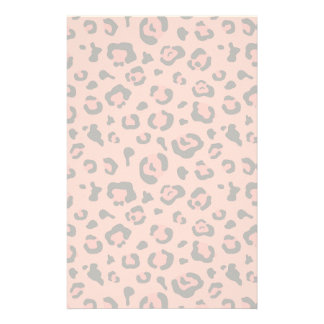 Illustration of Leopard Pink Animal Stationery
