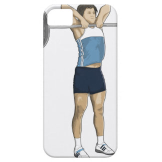 Illustration of man performing upright row barely there iPhone 5 case
