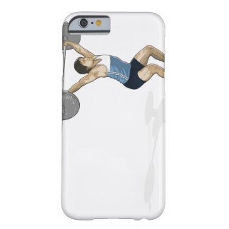 Illustration of man performing weightlifting barely there iPhone 6 case