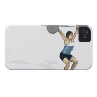 Illustration of man performing weightlifting Case-Mate iPhone 4 case