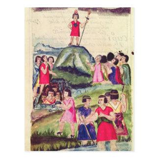 Illustration of Manco Capac Postcard