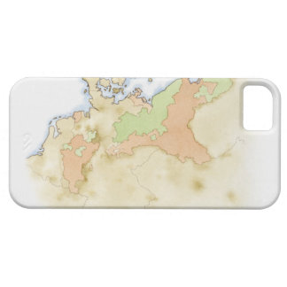 Illustration of map of Germany Barely There iPhone 5 Case