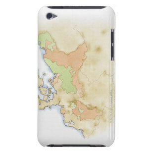 Illustration of map of Germany Barely There iPod Case