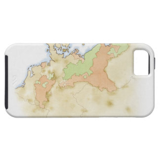 Illustration of map of Germany Case For The iPhone 5