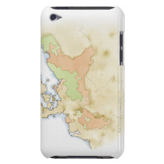 Illustration of map of Germany iPod Touch Case-Mate Case