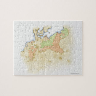 Illustration of map of Germany Jigsaw Puzzle