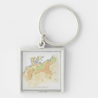 Illustration of map of Germany Key Ring