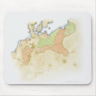Illustration of map of Germany Mouse Pad
