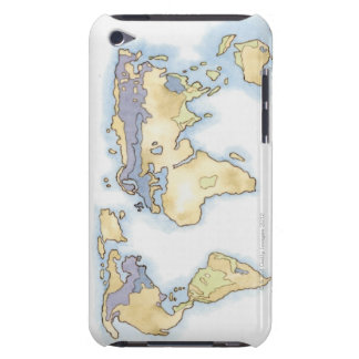 Illustration of map of the world showing areas iPod touch Case-Mate case