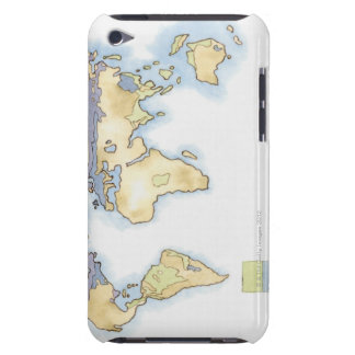 Illustration of map of the world showing areas iPod touch cover