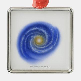 Illustration of Milky Way Christmas Ornament