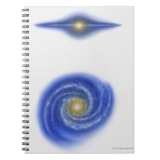 Illustration of Milky Way Notebook