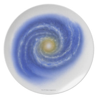 Illustration of Milky Way Plate
