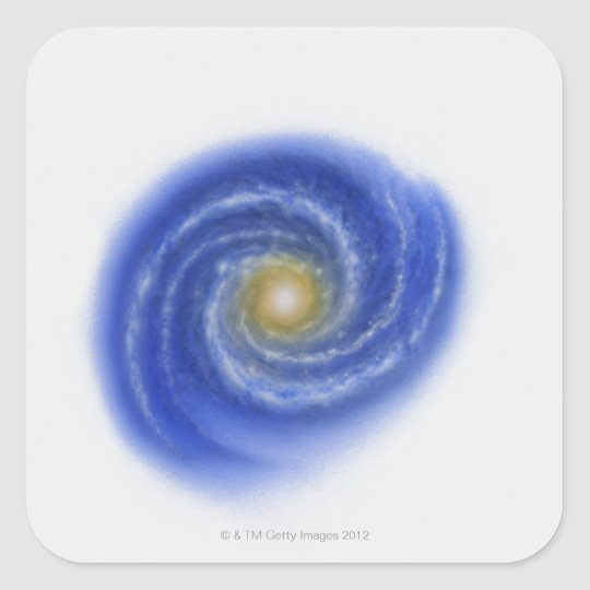 Illustration of Milky Way Square Sticker