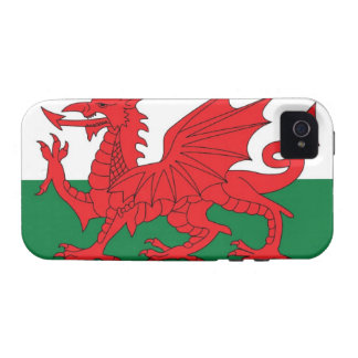 Illustration of national flag of Wales, with red iPhone 4/4S Cases