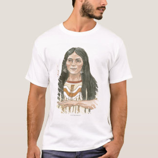 Illustration of Native North American woman T-Shirt