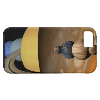 Illustration of Nine Planets in the Solar System iPhone 5 Case