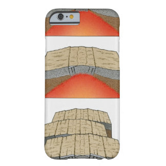 Illustration of oceanic plates moving apart and barely there iPhone 6 case
