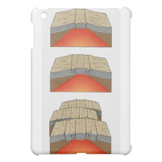 Illustration of oceanic plates moving apart and cover for the iPad mini
