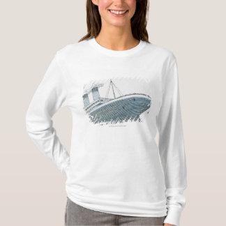 Illustration of passenger falling from the Titanic T-Shirt