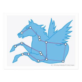 Illustration of Pegasus constellation Post Cards