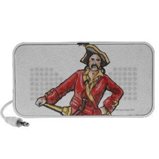 Illustration of pirate travel speaker