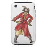 Illustration of pirate tough iPhone 3 case