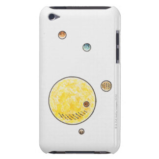 Illustration of planets orbiting the Sun Barely There iPod Case
