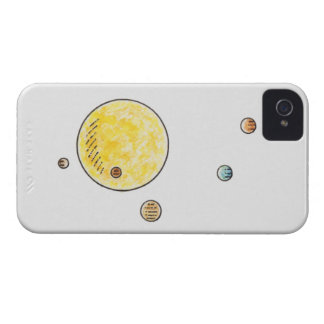 Illustration of planets orbiting the Sun iPhone 4 Cases