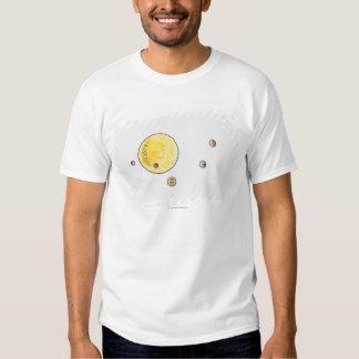 Illustration of planets orbiting the Sun T Shirts