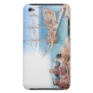 Illustration of Pocahontas and her father iPod Case-Mate Cases