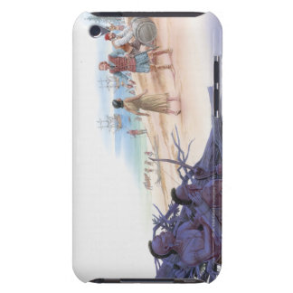 Illustration of Pocahontas talking with Captain iPod Case-Mate Case