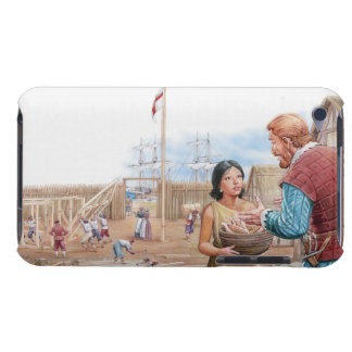 Illustration of Pocahontas visiting Captain John Barely There iPod Covers