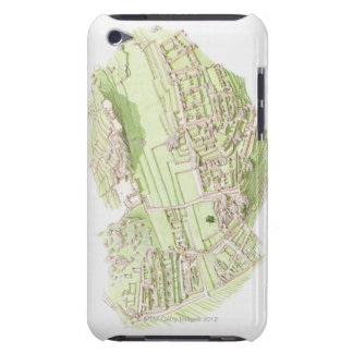 Illustration of pre-Columbian Inca city of Machu iPod Touch Covers