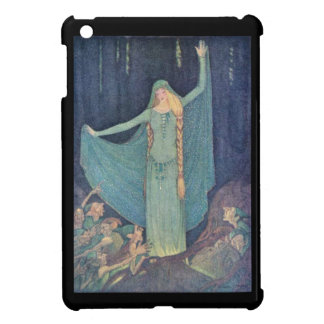 Illustration of princess with goblins or elves case for the iPad mini