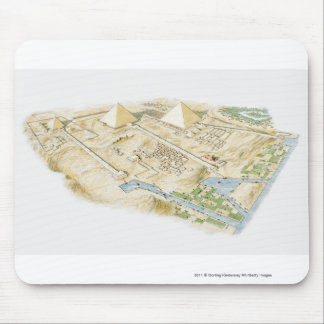 Illustration of Pyramids of Giza Mouse Mat