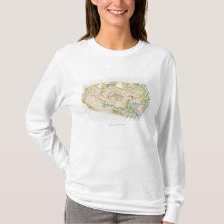Illustration of Pyramids of Giza T-Shirt