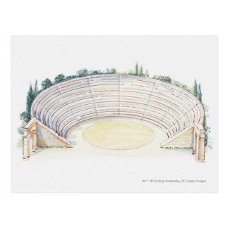 Illustration of Roman amphitheatre Postcard