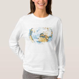 Illustration of satellite orbiting the Earth T-Shirt