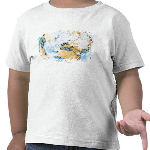 Illustration of satellite orbiting the Earth T Shirt