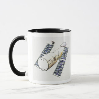 Illustration of satellite used for detecting mug