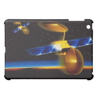 Illustration of satellites over Earth's horizon Case For The iPad Mini