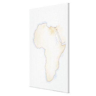 Illustration of simple outline map of Africa Canvas Print