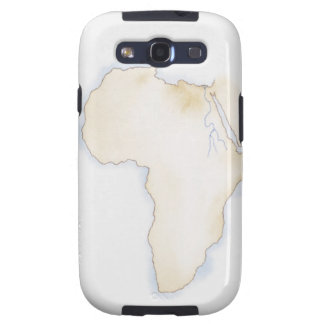 Illustration of simple outline map of Africa Samsung Galaxy S3 Cover