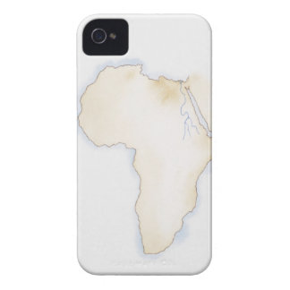 Illustration of simple outline map of Africa iPhone 4 Cover