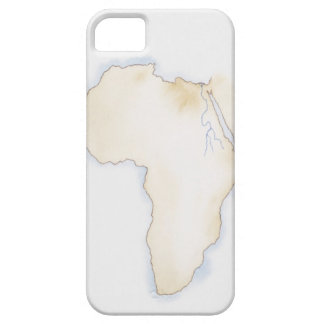 Illustration of simple outline map of Africa iPhone 5 Case