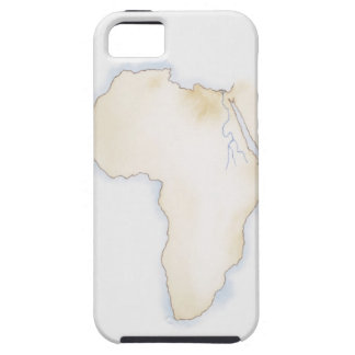 Illustration of simple outline map of Africa iPhone 5 Covers
