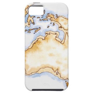 Illustration of simple outline map of Australia iPhone 5 Case