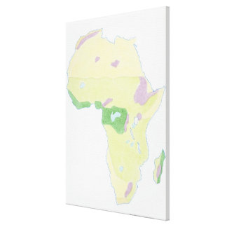 Illustration of simple outline map showing canvas print